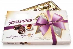 коробка конфет Эскаминио вкус тирамису
