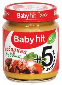 Говядина + овощи Babyhit