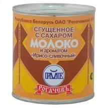 Молоко сгущеное Рогачевъ(Белоруссия) с сах. и ароматом Ирис-сливки