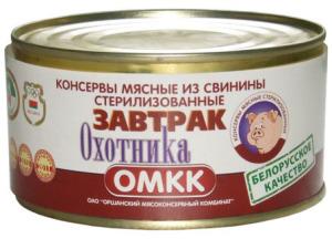Свинина тушеная Завтрак ОХОТНИКА1