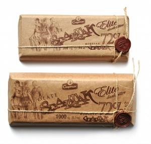 шоколад горький элитный 72 крафт