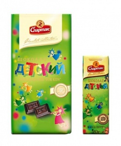 шоколад детский спартак