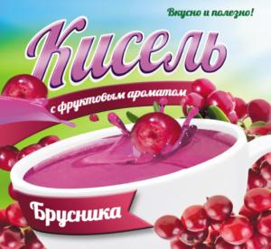 Кисель с фруктовым ароматом «Брусника»