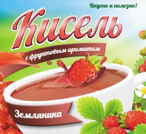 Кисель с фруктовым ароматом «Земляника»