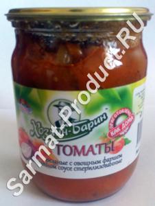 томаты резанные с овощным фаршем