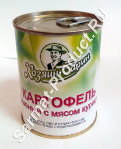 Картофель тушеный с мясом курицы По-Белорусски