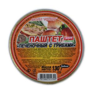 Паштет Печеночный с грибами 130 г