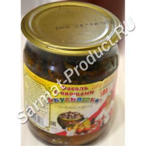 Фасоль с овощами в томатном соусе Вкусняшка 500 г стб (Ляховичи,Беларусь)