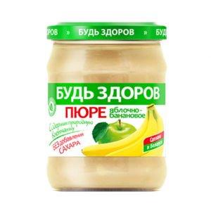 Пюре яблочно-банановое 450г АВС