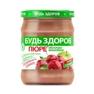 Пюре яблочно-вишневое 450г АВС