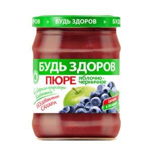 Пюре яблочно-черничное 450г АВС