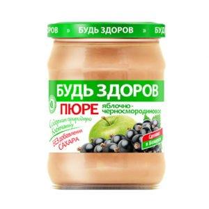 Пюре яблочно-черносмородиновое 450г АВС